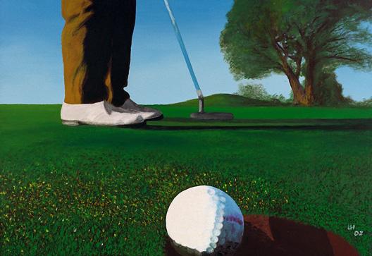 Golf-Kunst von Udo A. Heinrich: Bernies Put