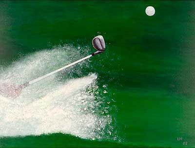Golf-Kunst von Udo A. Heinrich: Im Bunker