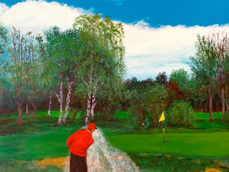 Golf-Kunst von Udo A. Heinrich: Bunker-Mann