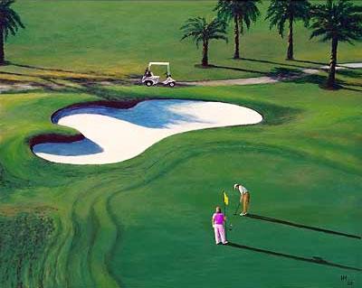 Golf-Kunst von Udo A. Heinrich: Einer sieht alles