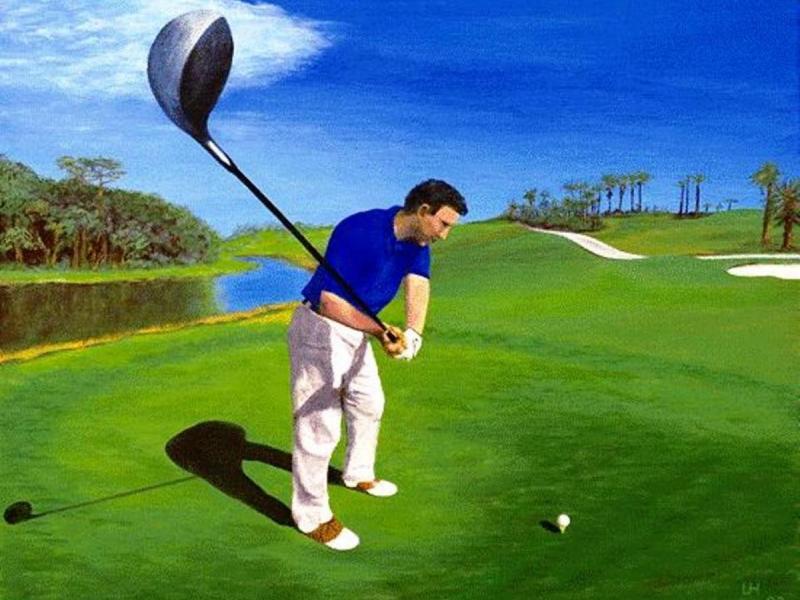 Golf-Kunst von Udo A. Heinrich: Driverman