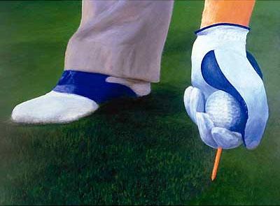 Golf-Kunst von Udo A. Heinrich: Golf hat Hand und Fuß