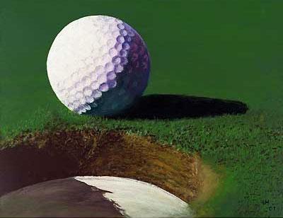 Golf-Kunst von Udo A. Heinrich: Golfball No. 1